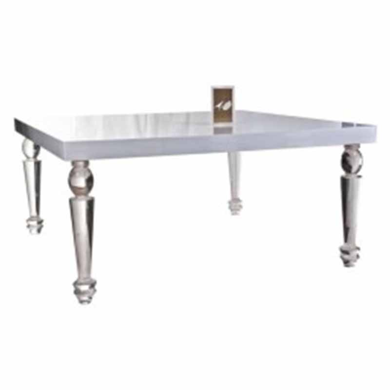 Bel Air Dining Table Clear Luxe Event Rentals Llc